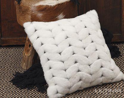 Alaska White Cushion from Logan & Mason, available at Forty Winks.