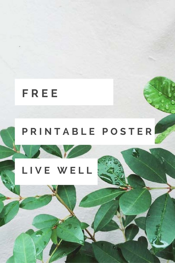 Free printable 'Live Well' poster.  Downloadable for home office or moodboard perfect for blogger inspiration. #blogsociety