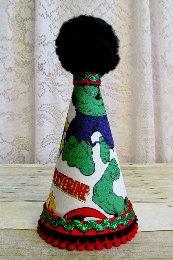 Incredible Hulk Marvel Fabric Keepsake Party Hat by cd1ofakind