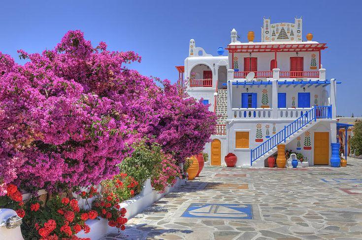 Santorini and Mykonos