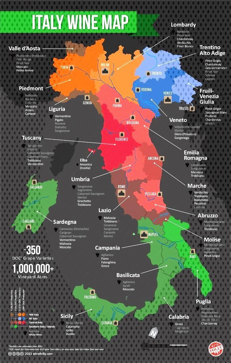 Italian Someday Regions Winery Grown Wines Italy Visit Wine Want This Map An I Italian Wine Italian Map