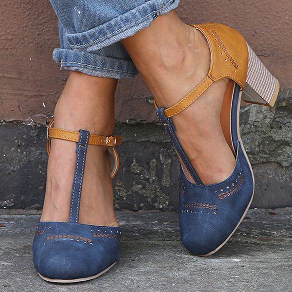 Tacones De Mujer Chunky Heel Pumps (1625387912)   – Women's Fashion : Shoes