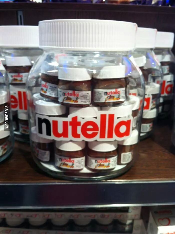 Here we see the pregnant Nutella in the wild, preparing to birth her baby Nutellas.