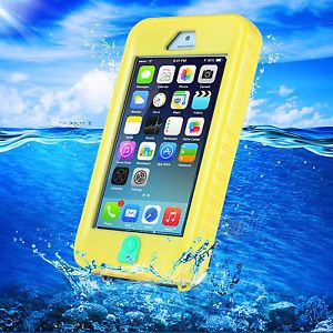 Waterproof Shockproof Case Hard Cover for iPhone 5S 5 5c SE w String Yellow | eBay