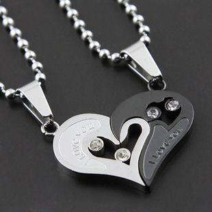 creative birthday gift couple pendant love heart couple