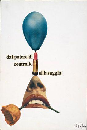 Ketty La Rocca - Dal potere di controllo al lavaggio, 1965. Mart, Archivio Tullia Denza www.mart.tn.it/collezioni