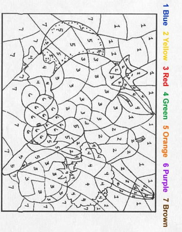 Esl Numbers Coloring Pages. color by number coloring pages  NATURE Color Number Fruit 7 best images on Pinterest Kids