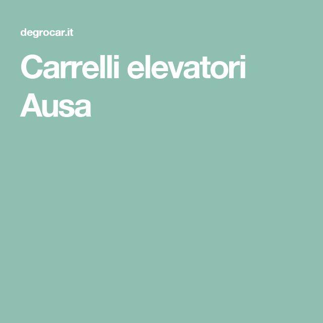 Carrelli elevatori Ausa