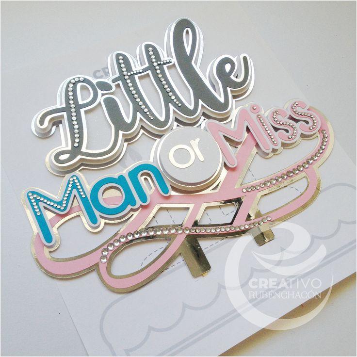 Little Man or Miss / Caketopper  #Caketopper #topper https://www.instagram.com/creativorubenchacon