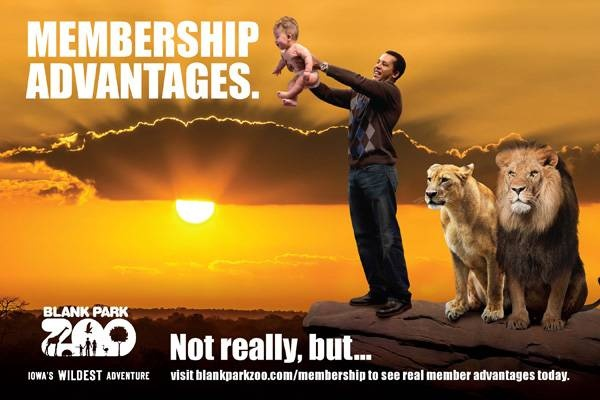 """Embrace your inner """"Lion King"""" at Blank Park Zoo!  Visit http://www.blankparkzoo.com/en/membership.cfm  for actual membership perks!"""