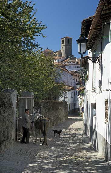 Jewish Quartres. Hervás, Granadilla, Cáceres, Extremadura, SPAIN.