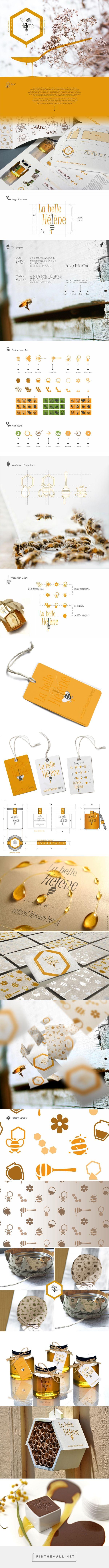 Honey | Logo & packaging on Behance - created via https://pinthemall.net