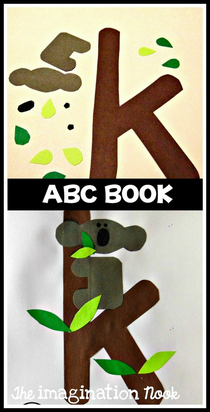Alphabet Book - ABC Book to make with preschool and kindergarten. K is for koala craft.