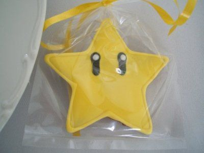 I love these party favor cookies so much.  A Mario throwback, while sharing a star with friends and fam.  Awesome.