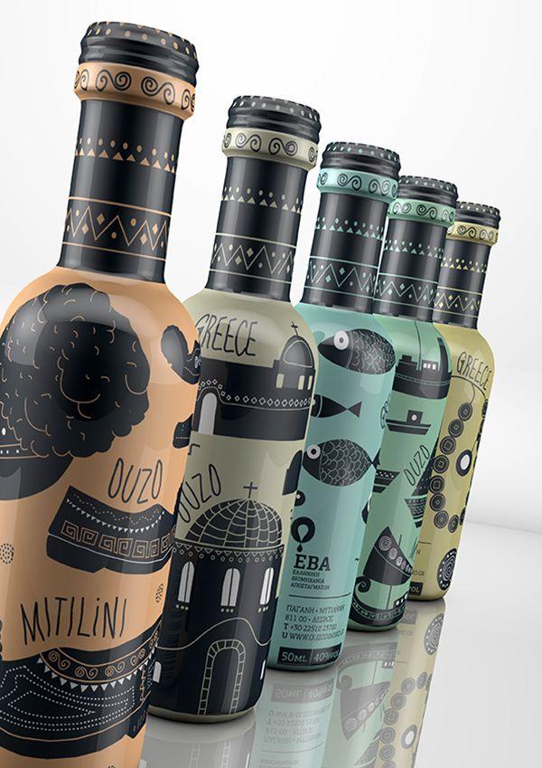 Ouzo packaging design taste of Greecegreece