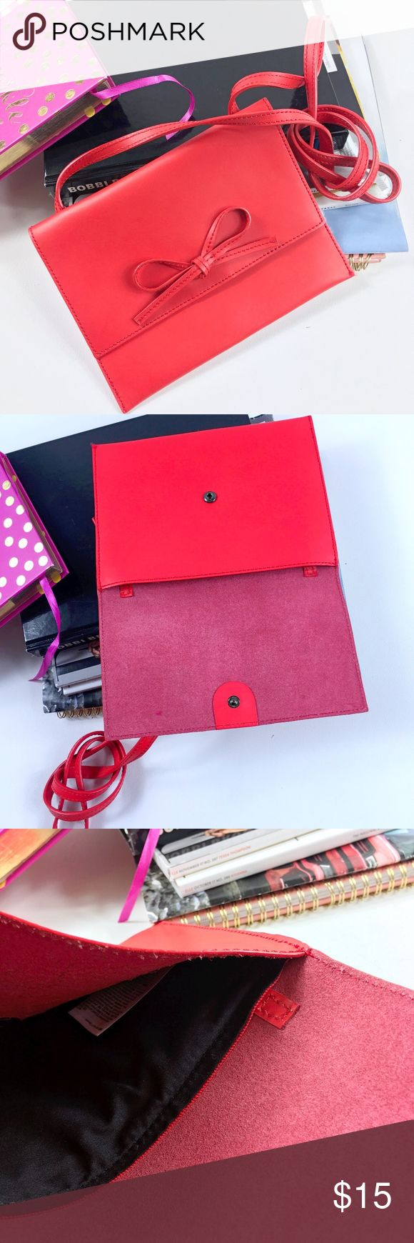 Gap Red Bow Cross Body Clutch Gap red/pink cross body clutch  brand new without tags one size man made GAP Bags Crossbody Bags