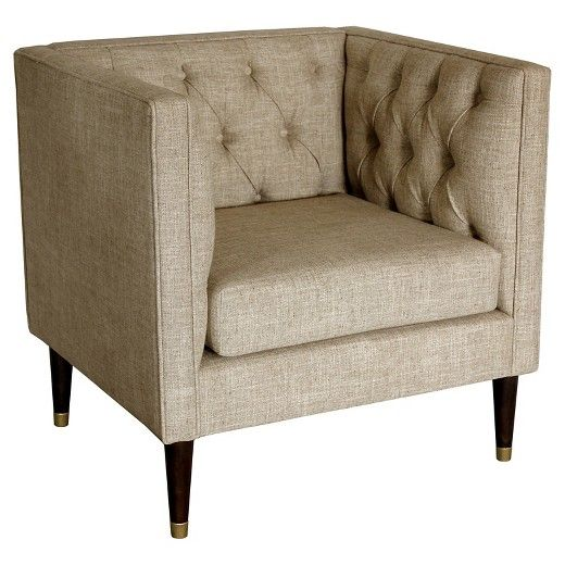 $237.49  Dimensions: 31.75 inches H x 32 inches W x 28.5 inches D Tufted Arm Chair - Nate Berkus™ : Target