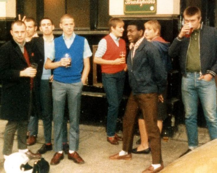 Date & source unknown  skinheads, suedeheads, rude boys, and mods