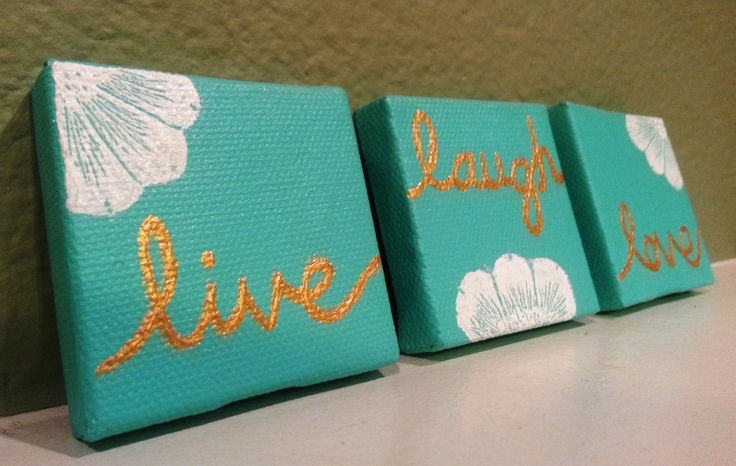 Live Laugh Love Mini Canvas Artwork (3 piece). $20.00, via Etsy.