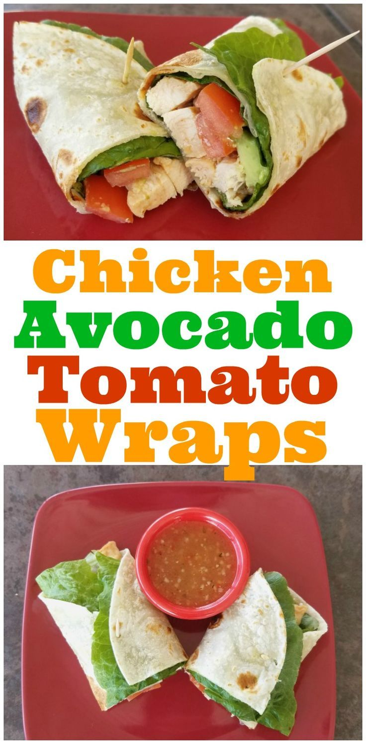 #ad Try these Easy Chicken Avocado Tomato Wraps made with Wish-Bone®️️ Italian Dressing, Tyson®️️ Grilled & Ready®️️ Chicken, and TortillaLand®️️ Flour Tortillas, found at your local Walmart!