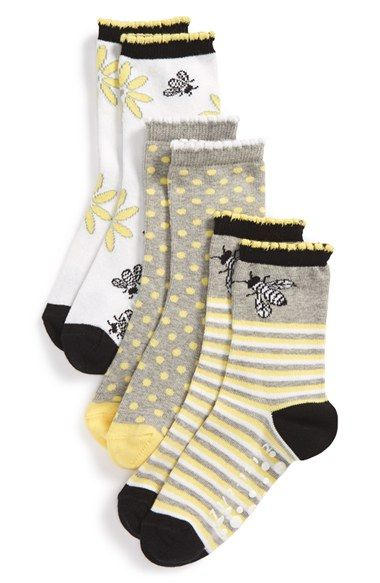 Free shipping and returns on Tucker + Tate 'Bees Knees' Nonskid Socks (3-Pack) (Little Kid & Big Kid) at Nordstrom.com. Spring-ready hues and charming patterns define soft, stretchy socks finished with rubberized, traction-enhancing dots at the soles.