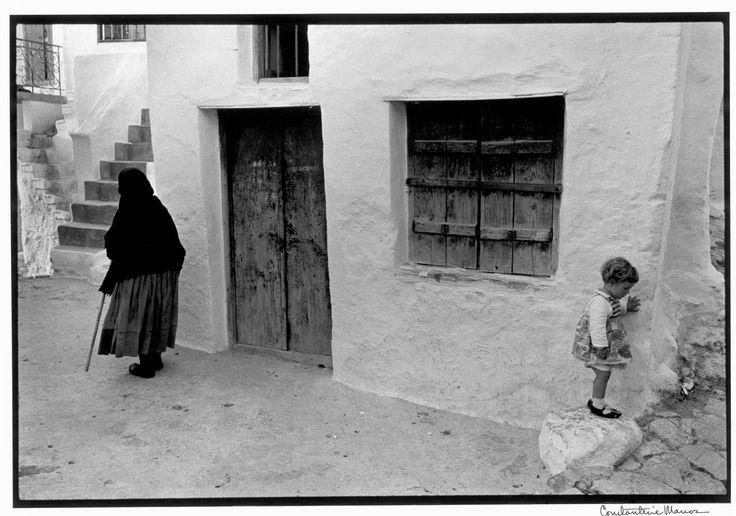 """Constantine Manos Greece Skyros. 1967. Street scene. """"A Greek Portfolio"""" p.90 © Costa Manos/Magnum Photos"""