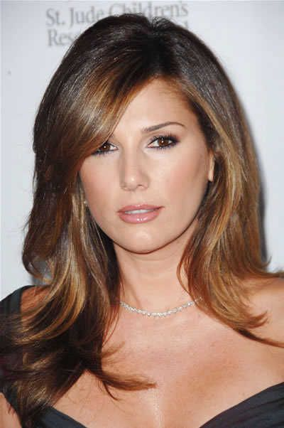 Those are a couple of good example of long layered haircuts for round faces that will reduce the roundness of the face while also giving a great look at the same time.