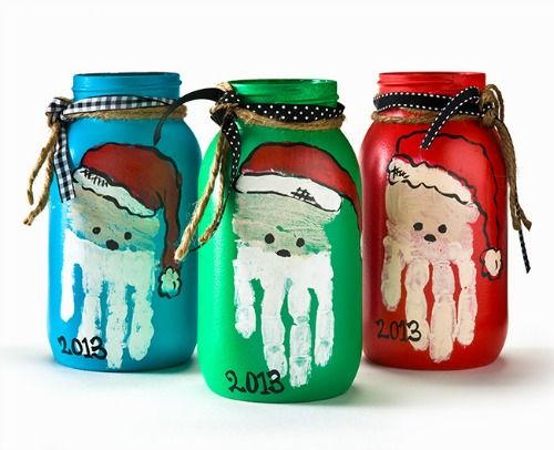 Parent gift????  Santa Mason Jars
