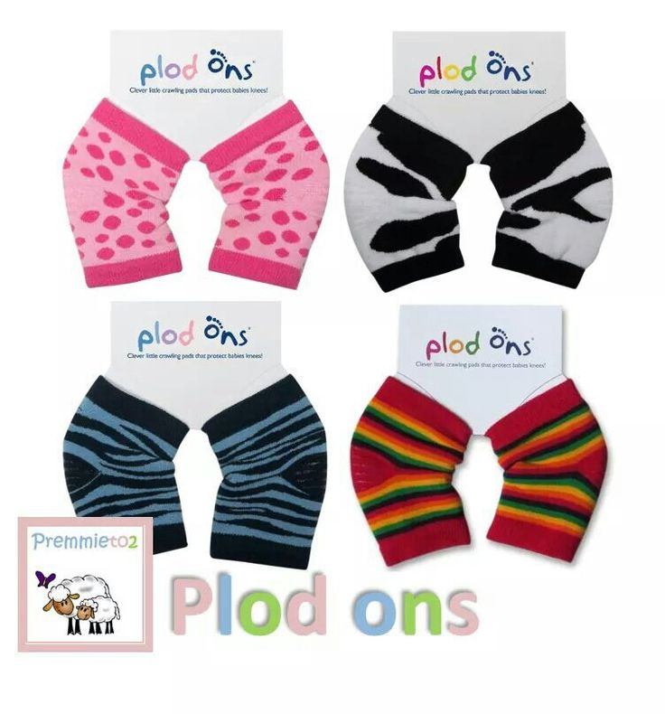 Plod ons help stop knees from chafing when your baby's learning to crawl. Available at www.premmieto2.com.au