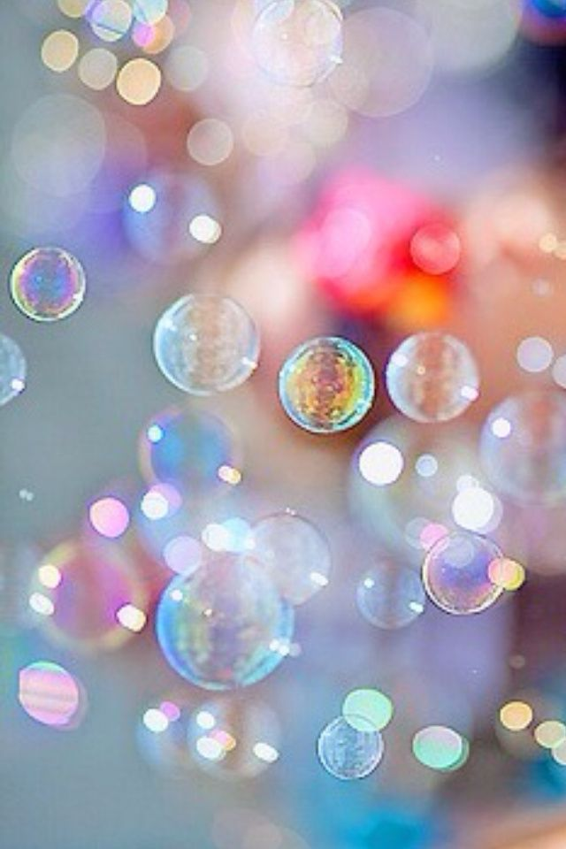 Bubbles. There is just something about bubbles that make me smile and feel like a kid. :)