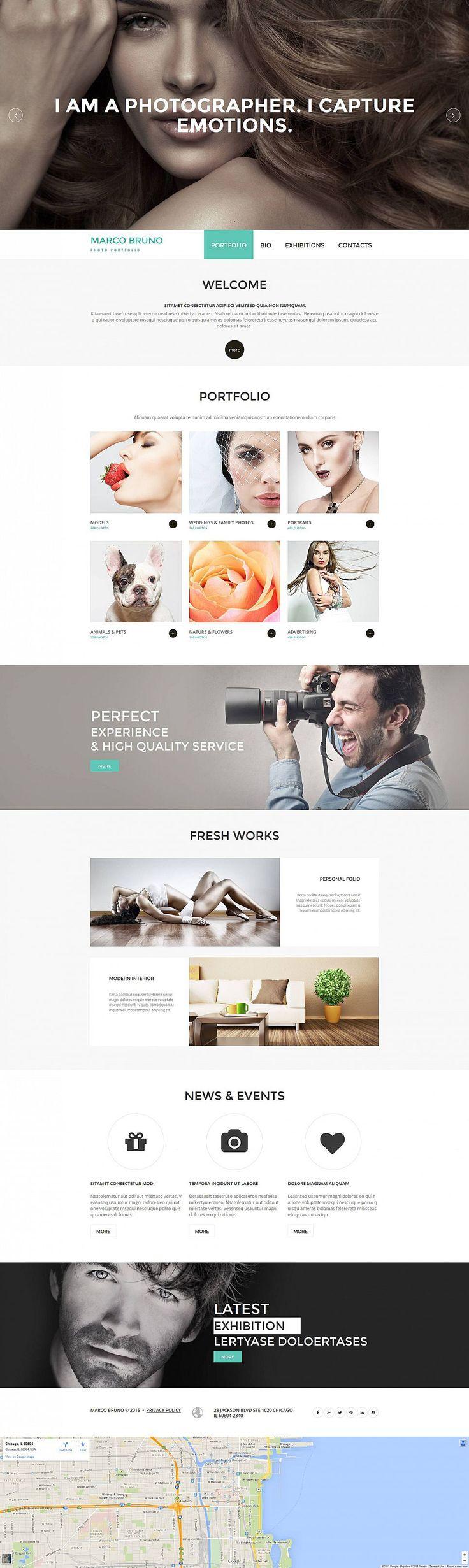 Best Photo Portfolio Design Images On Pinterest Portfolio - Fresh artist bio template design