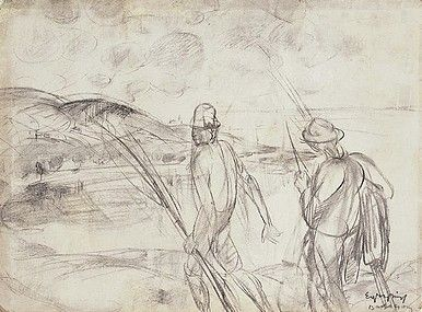 Egry József Badacsony című rajza