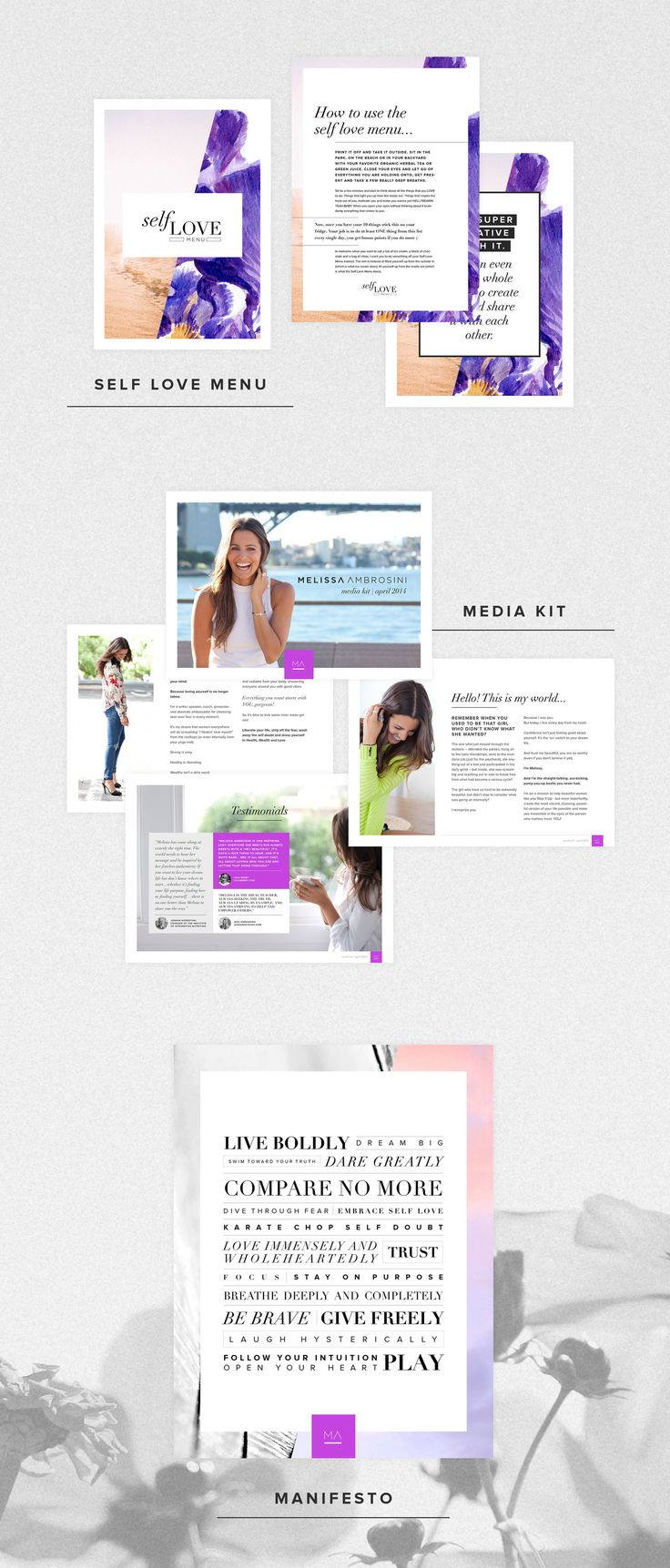 Melissa Ambrosini | Brand + Website Design | fresh by sian