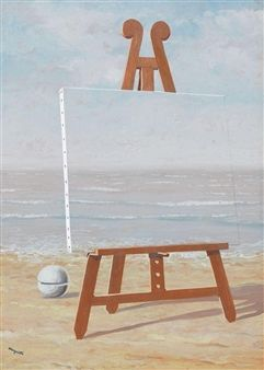 La belle captive (II) By René Magritte ,1946 I think this artwork is about the board is being part of the sea. I like the artwork because it is really interesting and i have never thought of it this way before.I like to adopt the use of a material to blend in the surrounding.