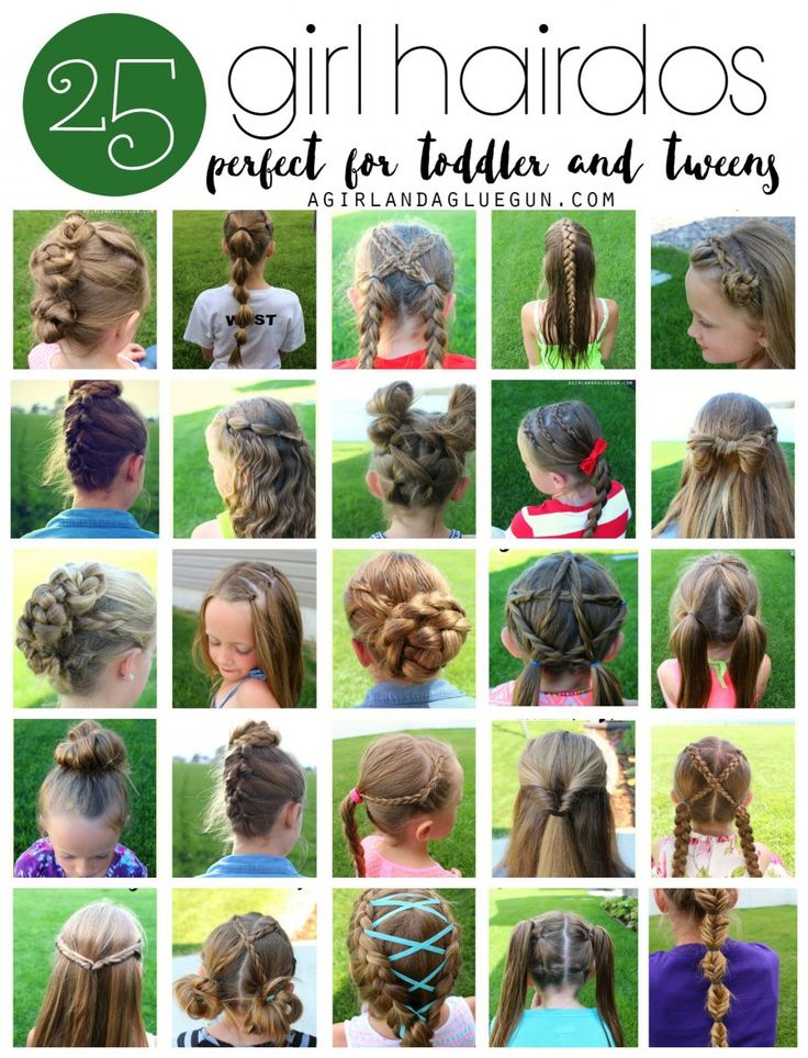 25 easy hair styles for toddler tweens and kids