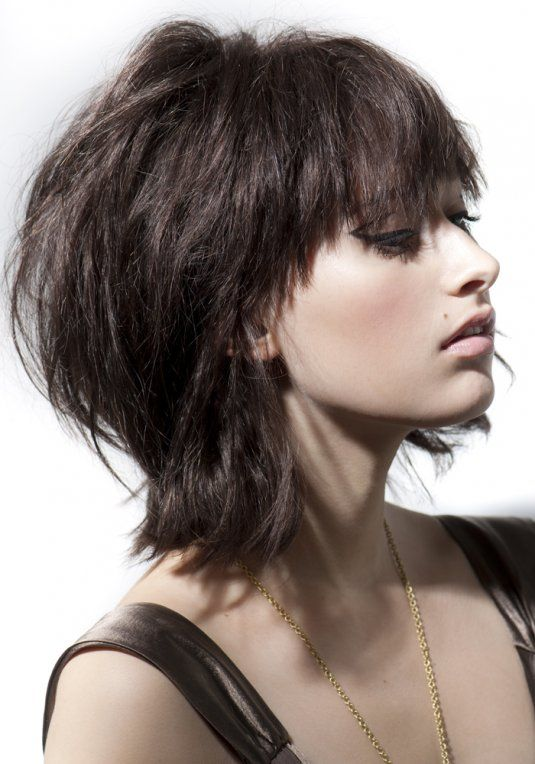 Les 25 meilleures id es de la cat gorie carr d grad effil sur pinterest cheveux mi longs - Carre degrade effile court ...