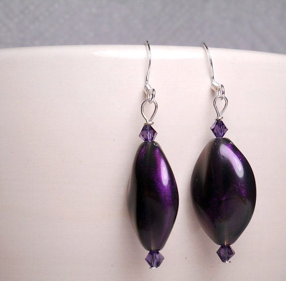 HUGE Mother's Day sale on etsy! gingerrosemary.etsy.com: Purple Crystals, Gingerrosemary Etsy Com, Huge Mothers, Beads Violets, Purple Earrings, Earrings Crystals, Etsy Finding, Dangle Earrings, Violets Dangle