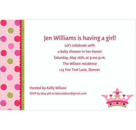 14 best princess baby shower invitations images on pinterest, Baby shower invitations