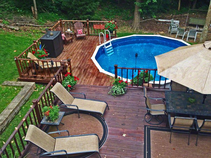 Building a deck around your pool will give you a place to lay in the sun and somewhere to BBQ and eat with your family and friends.