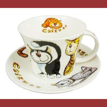 Кошки-с/Чайная пара для завтрака 500мл
