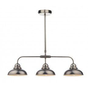 Dynamo Antique Chrome 3 Bar Pendant - Style and Light online lighting store