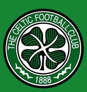 Celtic Football Club's badge is just a simple green shamrock surrounded by text. This is somewhat similar to a coat of arms