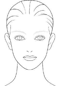 Blank Makeup Face Chart Template Beauty Pinterest