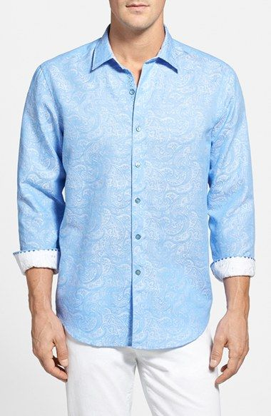 Robert Graham 'Chiefdome' Classic Fit Linen Blend Sport Shirt available at #Nordstrom