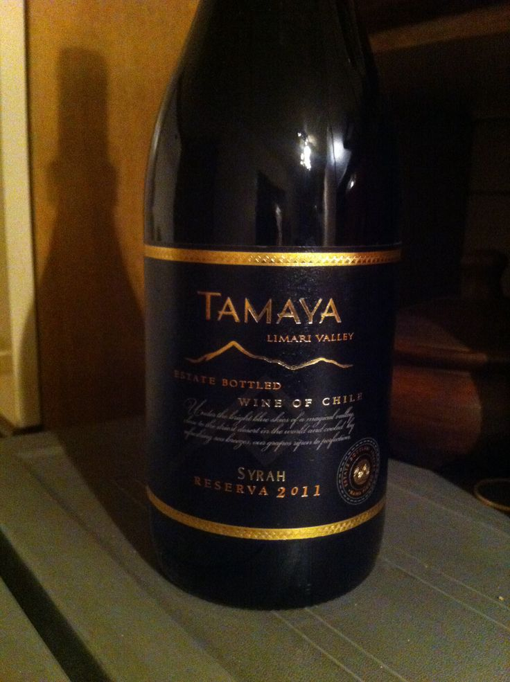 Tamaya Limari Valley Syrah Reserva 2011 Wine of Chile
