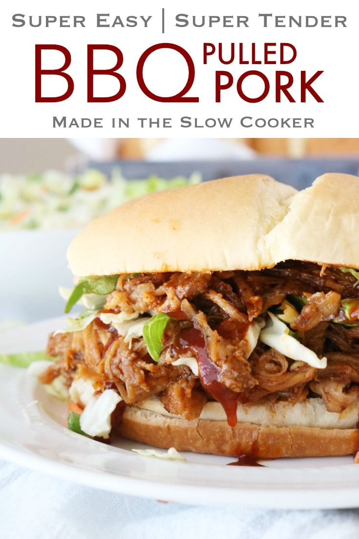 This Slow Cooker Pulled Pork Is So Easy Literally Anyone Can Make It Recipe Pulled Pork Recipes Slow Cooker Recipes Pork Cooking Pulled Pork