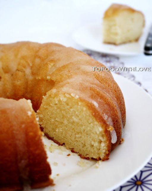 To Food with Love: Frosted Lemon Yoghurt Cake