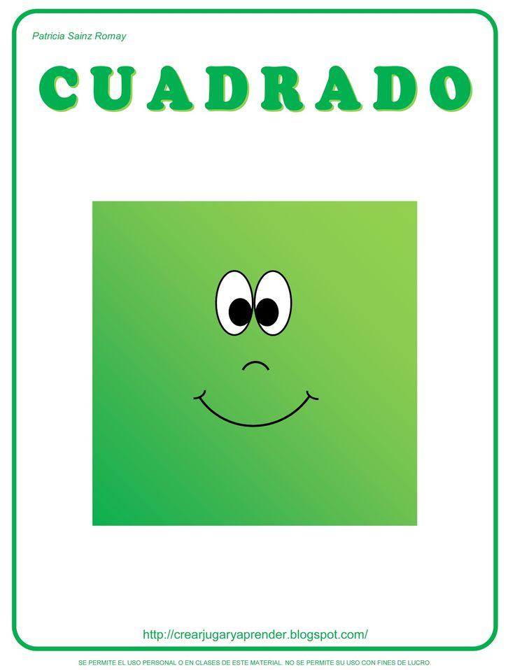 MATERIALES DIDÁCTICOS PARA EDUCACIÓN INFANTIL: FIGURAS GEOMÉTRICAS INFANTILES - CUADRADO