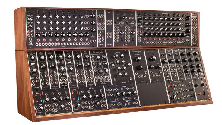 Moog spent three years researching and building faithful recreations of the classic modular System 55, System 35, and System 15 modular synthesizers. The flagship System 55 is a highly sophisticated and dynamic analog instrument comprising 36 handcrafted modules housed in two hand-finished solid walnut cabinets. Each module is hand-built to the original factory specifications by hand-stuffing and hand-soldering components to the circuit board and using traditional wiring methods.