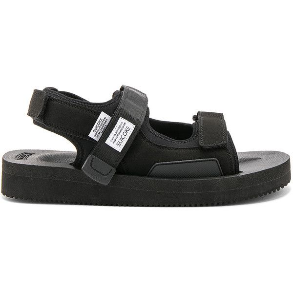 Suicoke WAS-V (1,205 CNY) ❤ liked on Polyvore featuring men's fashion, men's shoes, sandals, mens velcro shoes and mens velcro strap shoes